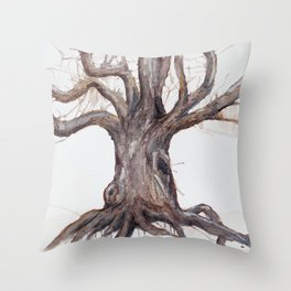 Dead and Dormant. Tree no. 1 Throw Pillow