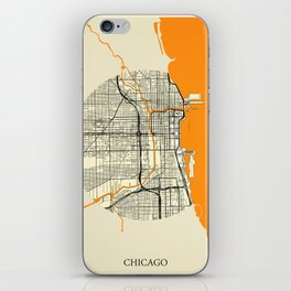 Chicago Map Moon iPhone Skin