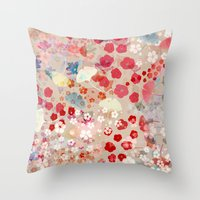 blossom Throw Pillows featuring Blossom by Marta Olga Klara