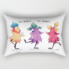 Dancing Yabbuts Rectangular Pillow
