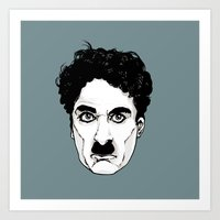 chaplin Art Prints featuring Chaplin by El Kane