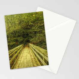 Bridge To Moore Cove Falls Stationery Cards