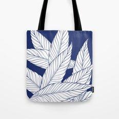 SUMMERTIME (Leaves on blue) Tote Bag