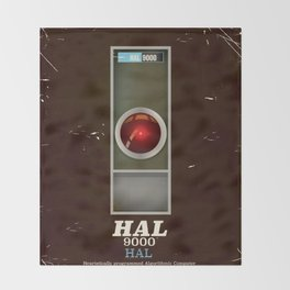 HAL 9000 Vintage magazine advertisement Throw Blanket