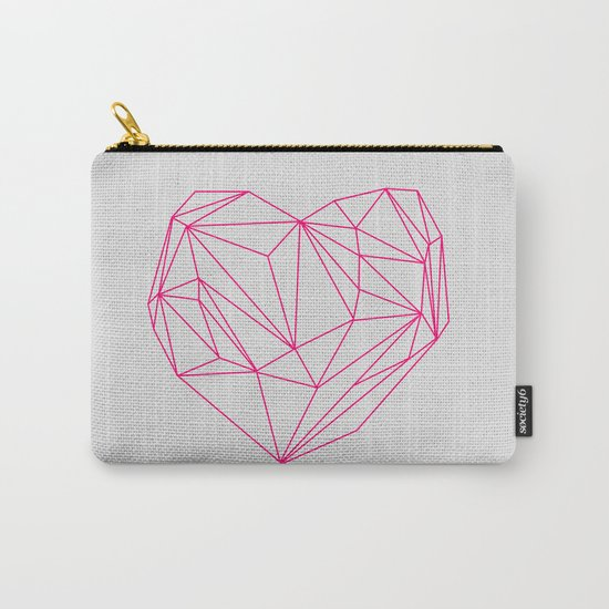 Heart Graphic Neon Version Carry-All Pouch