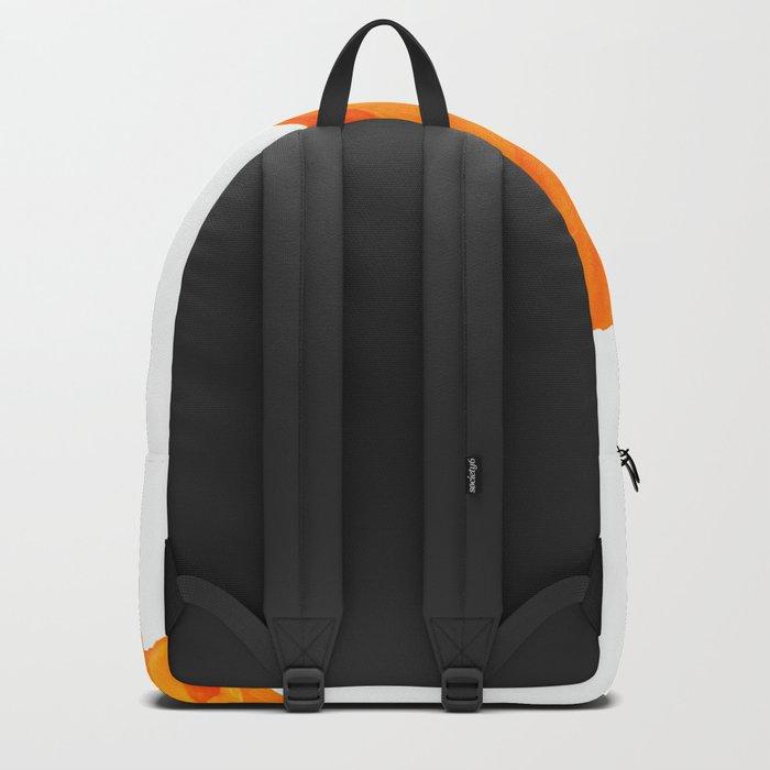 One And Only - Orange Poppy White Background #decor #society6#buyart Backpack