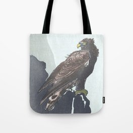 Eagle Sitting on a Cliff - Vintage Japanese Woodblock Print Art Tote Bag