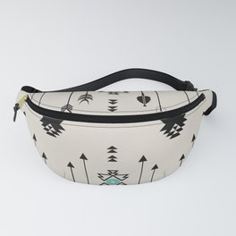 Tribal Native Arrows And Turquoise Symbols Minimal Design  Fanny Pack
