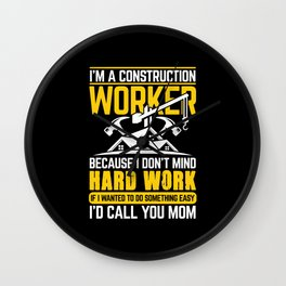 Construction Worker Wall Clock