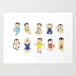 lots of babies! Art Print