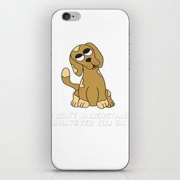 I love my DOG head tilt cute pet pug doglover doghead 2 iPhone Skin