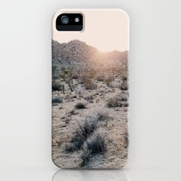 Sunset in Joshua Tree National Park iPhone Case