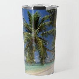 Palm beach, the Seychelles, La Digue island, Travel Mug