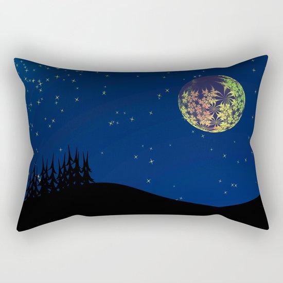Fractal Moon Rectangular Pillow