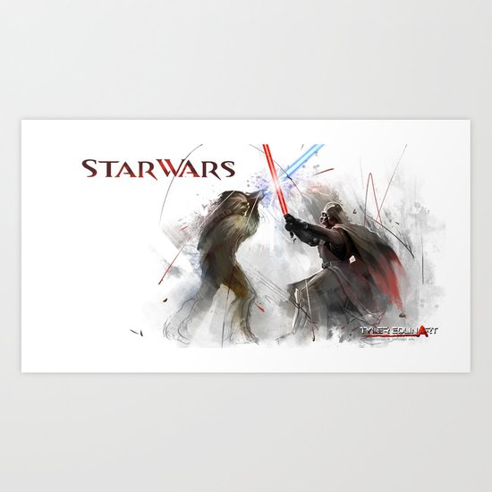 Star wars duel  Art Print