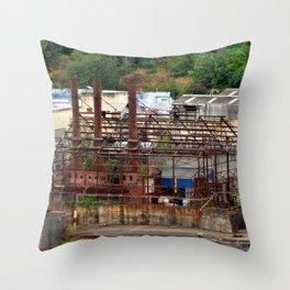 Blue Heron Papermill, Oregon City, Oregon Throw Pillow