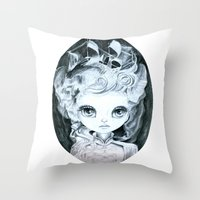 marie antoinette Throw Pillows featuring Marie Antoinette by ZELYSS