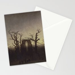 Abbey among Oak Trees by Caspar David Friedrich Stationery Cards