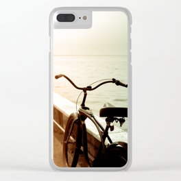 Beach Bicycle at the Marina Clear iPhone Case
