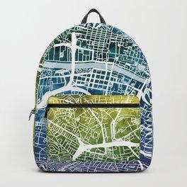 Glasgow Scotland Street Map Backpack