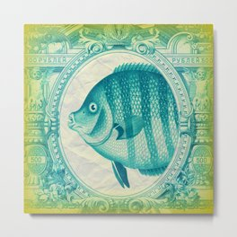 Fish Banknote Metal Print