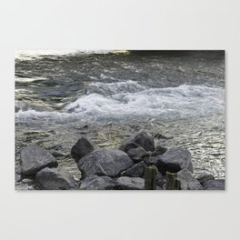 Rocks + river Canvas Print
