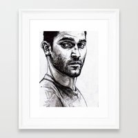derek hale Framed Art Prints featuring TEEN WOLF - Derek Hale by Sara (aka Wisney)