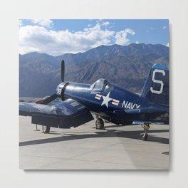 Vintage Historical World War 2 Navy Airplane Metal Print