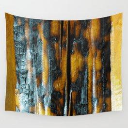 Wyoming Yellowstone Wildfire Log  Wall Tapestry