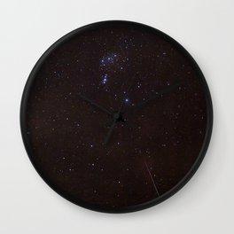 Watercolor Nightscape, Moraine Park 04, RMNP, Colorado Wall Clock