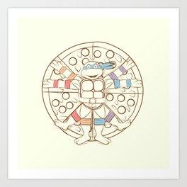 Vitruvian Turtle Art Print