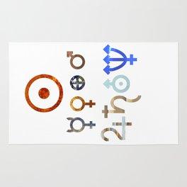 Planetary Symbols II Rug