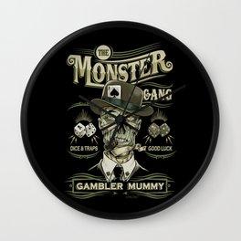 Monster Gang - Gambler Mummy Wall Clock