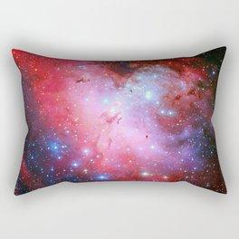The Eagle Nebula Red Blue Galaxy Rectangular Pillow