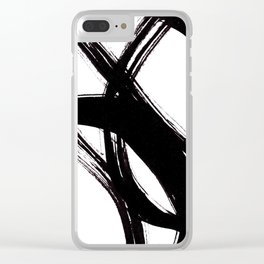 Abstract Wall art, Abstract Print, Black White Abstract Print, Black White Art, Minimalist Print, Ab Clear iPhone Case