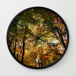 Through the Trees in October Wall Clock