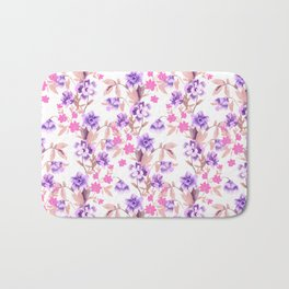 Garden Journal Purple Bath Mat