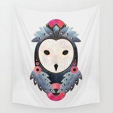 Owl 1 - Light Wall Tapestry