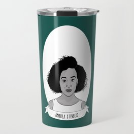 Amandla Stenberg Illustrated Portrait Travel Mug