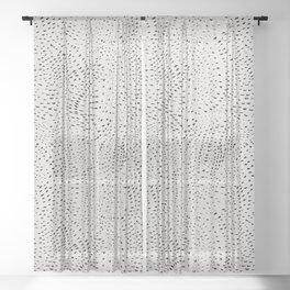 watercolor black dots Sheer Curtain