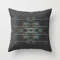 ship Throw Pillows featuring ship by K_REY_C