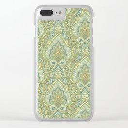 Gilded Paisley Clear iPhone Case