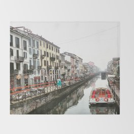 Milano Navigli - Italy Throw Blanket