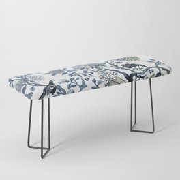 Blue vintage chinoiserie flora Bench