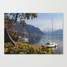 Swiss Riviera Lakeside IV Canvas Print
