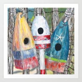 Buoy Birdhouse Art Print