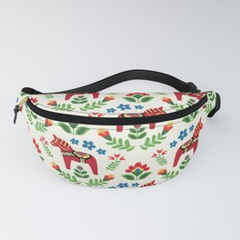Swedish Dala Horses Red Fanny Pack