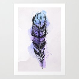 AP089 Watercolor feather Art Print
