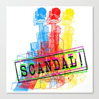 scandal Canvas Prints featuring Scandal Scandal Scandal by Genco Demirer