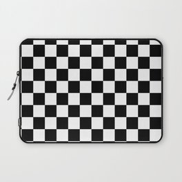 black checkered pattern Laptop Sleeve